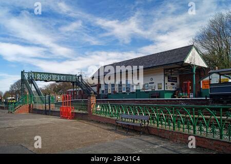 Royaume-Uni, Yorkshire du Sud, Elsecar Heritage Centre, Heritage Railway Station