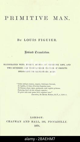 Selon l'illustrateur français Emile Bayard (1837-1891), illustration de l'œuvre publiée dans Primitive Man par Louis Figuier (1819-1894), publiée à Londres par Chapman et Hall 193 Piccadilly en 1870 Banque D'Images