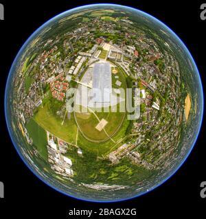 collège Mont-Cenis à Herne, 02.07.2011, vue aérienne, Allemagne, Rhénanie-du-Nord-Westphalie, région de la Ruhr, Herne