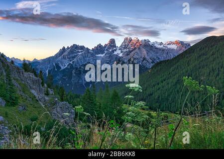 Cristallo Mountain Group, Cortina d'Ampezzo, Belluno, Vénétie, Italie Banque D'Images