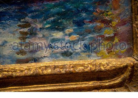 Grand Canal, Venise par Pierre-Auguste Renoir (français, 1841-1919), huile sur toile, 1881. Musée des beaux-arts, Boston, Massachusetts Banque D'Images