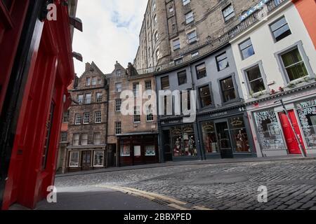 Rues vides d'Édimbourg pendant la quarantaine de Covid-19: Rue Victoria