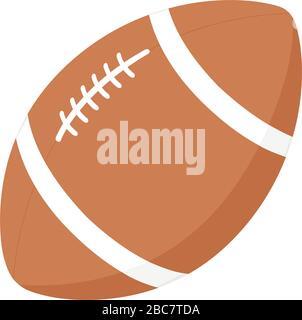 Illustration vectorielle de l'icône du ballon de football américain de Rugby