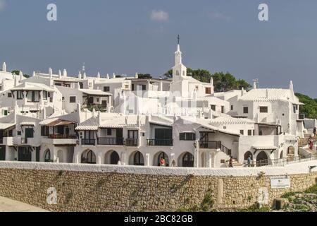Binibeca Vell village de vacances,Minorque,Iles Baléares,Espagne,Europe Banque D'Images
