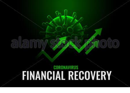 croissance financière et reprise après traitement du coronavirus Banque D'Images