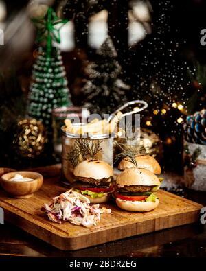 petits hamburgers aux herbes Banque D'Images