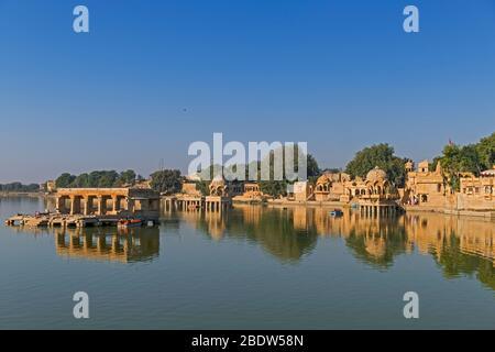 Lac Gadisar Jaisalmer Rajasthan Inde