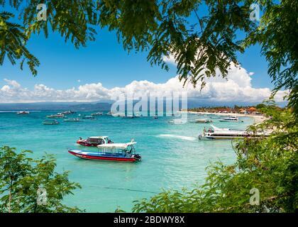 Vue horizontale de l'île de Lembongan, Indonésie.