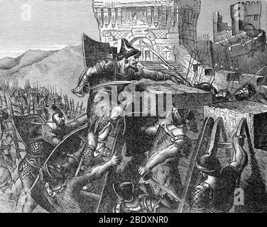 Siège de Tyr, 6ème siècle avant J.-C. Banque D'Images