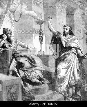 Nebucadnetsar II et Daniel, 6ème siècle avant J.-C. Banque D'Images