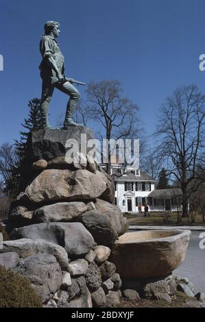 Statue de Minuteman, Lexington, Massachusetts