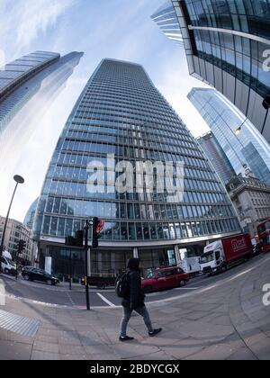 100 bishopsgate, siège de la Royal Bank of Canada, gratte-ciel de Londres Banque D'Images