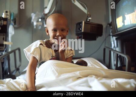 Enfant sous chimiothérapie Banque D'Images
