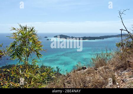 Vue panoramique depuis le parc marin national de Ko Adang Ko Tarutao, province de Satun, Thaïlande, Asie Banque D'Images