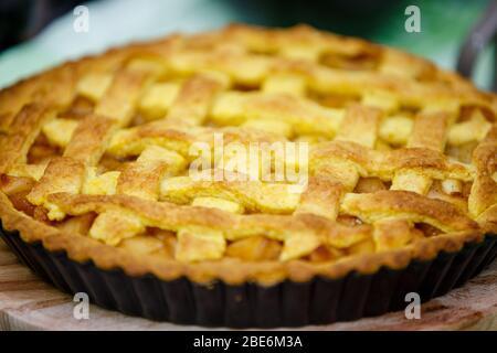Tarte aux pommes maison Banque D'Images