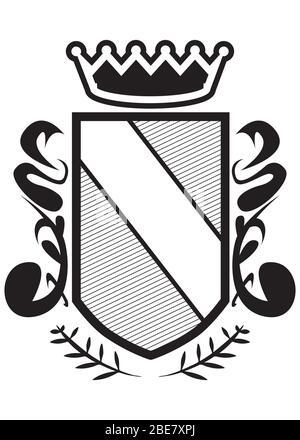 Logo de l'emblème graphique du badge de protection à vecteur rétro - signe de protection et de sécurité, icône de protection, étiquette de qualité supérieure.