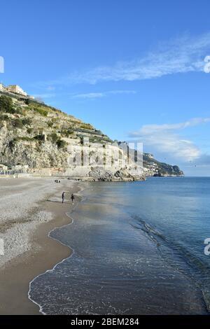 Paysage marin de la petite ville de Minori en Italie