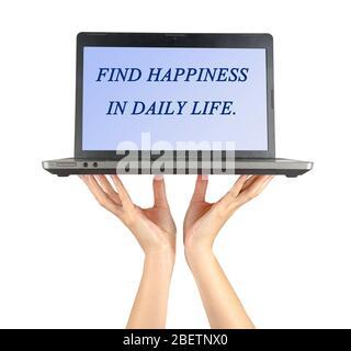Trouvez le bonheur dans la vie de jour Banque D'Images