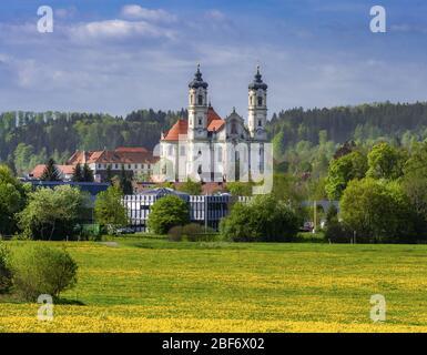 Abbaye bénédictine à Ottobeuren, Allemagne, Bavière, Swabia, Allgaeu Banque D'Images