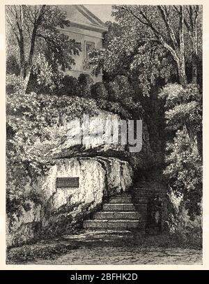 Maison de jardin Goethe dans le parc sur l'ILM, Weimar. Patrimoine mondial de l'UNESCO. Thuringe, Allemagne, Europe. Voyage en Thuringe, Allemagne du Nord 1869 Banque D'Images