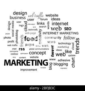 Nuage de mots. Concept de marketing Banque D'Images