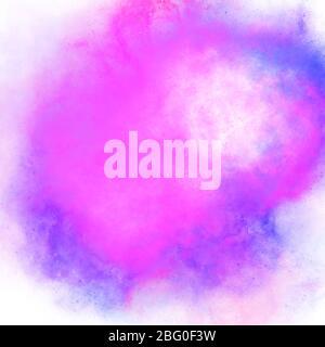 Tache violette violette de dégradé de peinture aquarelle. Fond d'écran abstrait de fond d'écran, belles taches de texture de peinture illustration numérique imitat Banque D'Images