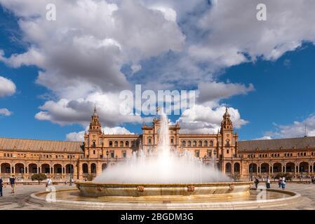 Plaza de España. Séville, Espagne. 14 octobre 2019. Banque D'Images