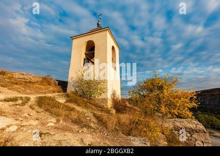 Église Orheii Vechi Rock à Trebujeni. Trebujeni, Rejon Orhei, Moldavie. Banque D'Images