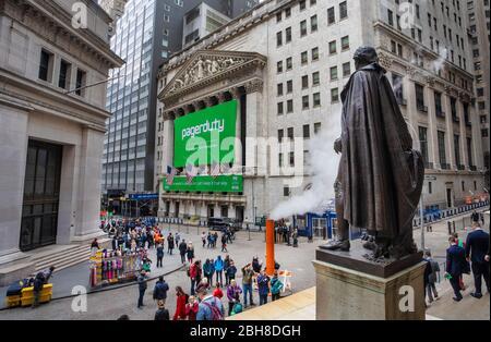 États-Unis, New York City, Manhattan, bourse