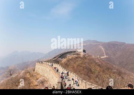 La Grande Muraille de Mutianyu, Beijing, Chine Banque D'Images