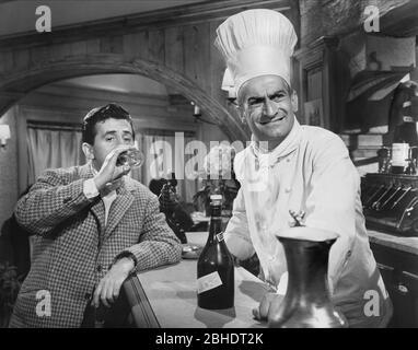 JEAN LEFEBVRE, Louis de Funes, LE MONSIEUR DE EPSOM, 1962 Banque D'Images