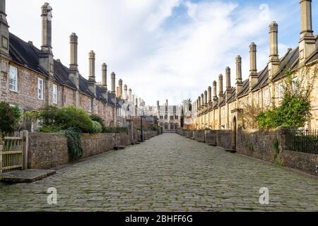 Fermeture de Vicaire historique à Wells, Somerset. Printemps 2020.