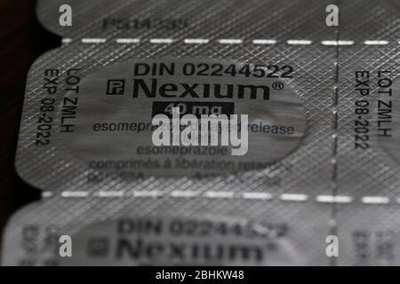 Nexium - traitement de Hearburn Luke Durda/Alay Banque D'Images