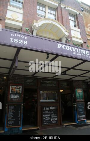 Fortune of War, le plus ancien pub de Sydney, Australie Banque D'Images