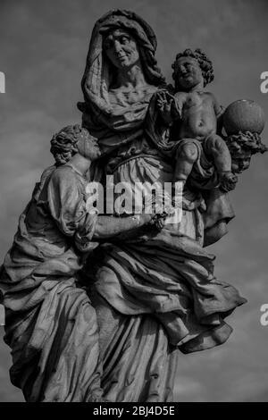 Statue de Sainte-Anne sur le pont Charler, Prague