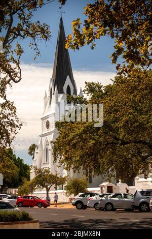 Afrique du Sud, Stellenbosch, Drostdy Street, Moederkerk, 1863 Église néo-gothique de mère par Carl Otto Hager