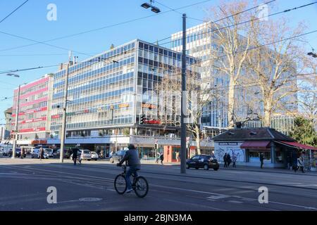 Paysage urbain le 7 décembre 2015 à Berne, Suisse. Banque D'Images