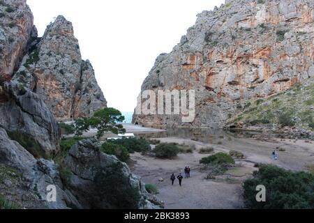 Deux rochers de la baie de sa Calobra à Majorque Banque D'Images