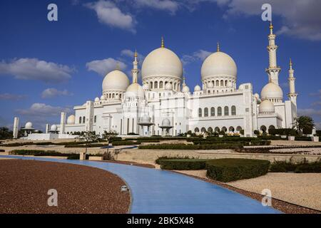 Grande Mosquée de Sheikh Zayed à Abu Dhabi, Émirats Arabes Unis