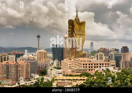 Macao / Chine - 26 juillet 2015 : vue sur la ville de Macao depuis le phare de Guia, Macao, Chine