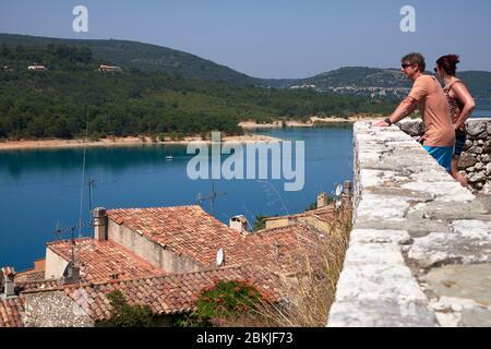 France, Var, Communes Communauté des lacs et gorges du Verdon, Bauduen, Lac de Sainte Croix, Banque D'Images