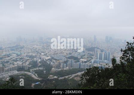 Urban Ententally Highrise Appartement Blocks Mansion Blocks Appartements en béton haute densité nouveaux territoires Hong Kong Banque D'Images