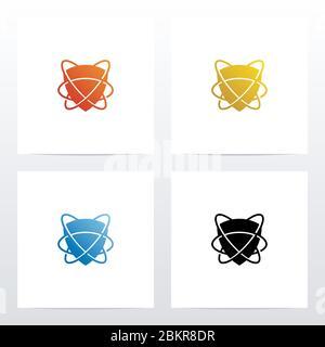 Protection enveloppée du logo Swoosh Lines Banque D'Images