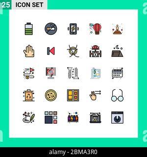 25 icônes créatives signes et symboles modernes de quatre, gagnant, communications, professionnel, meilleur modifiable éléments de conception vectorielle