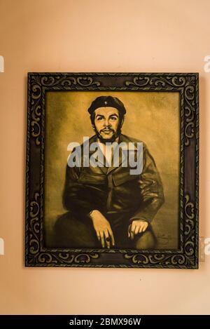 Peinture du Che Guevara, Casa de la Ciudad, un centre artistique animé, Santa Clara, Cuba Banque D'Images