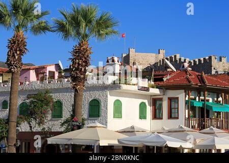 Vieille ville de Marmaris, Turquie, Méditerranée Banque D'Images