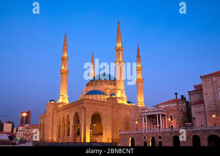 Mosquée Mohammad Al Amin. Beyrouth. Liban. Banque D'Images