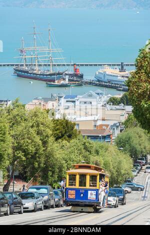 Téléphérique Powell-Hyde Line, San Francisco, Californie, États-Unis