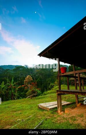 Soirée à la station de Cana dans le parc national de Darien, province de Darien, République du Panama. Banque D'Images