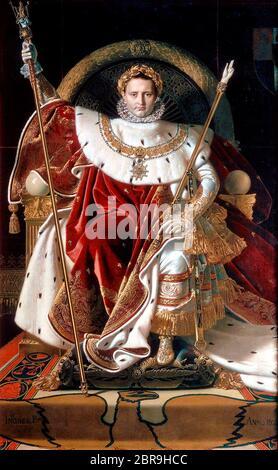 Jean Auguste Dominique Ingres - Napoléon sur son trône impérial 1 Photo  Stock - Alamy